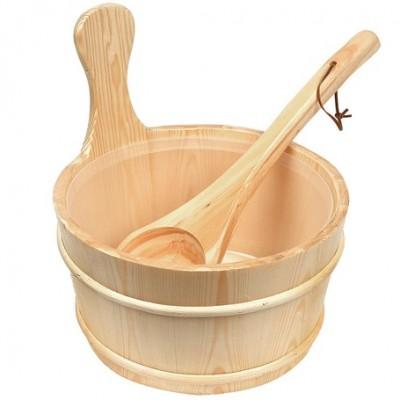 Complect Caldare + Lingura pentru sauna