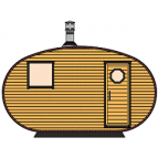 Saune Barrel Oval