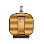 Saune Barrel Patrat