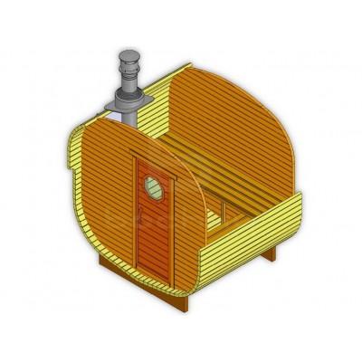 Sauna Barrel Patrat «ECO»