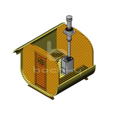 Sauna Barrel Patrat «ECONOM»