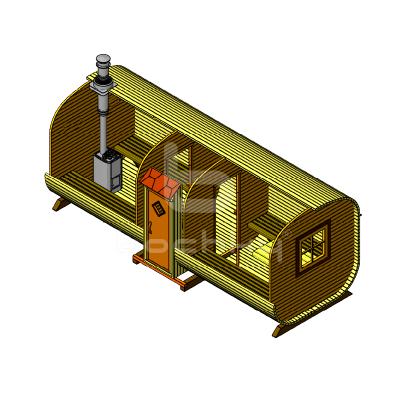 Sauna Barrel Patrat «EXCLUISIV-SV»