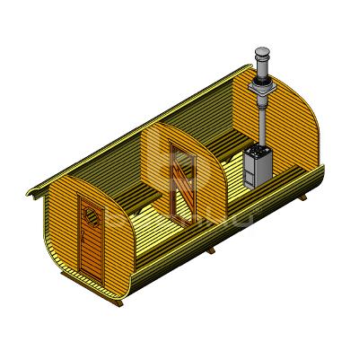 Sauna Barrel Patrat «MEGA-2»