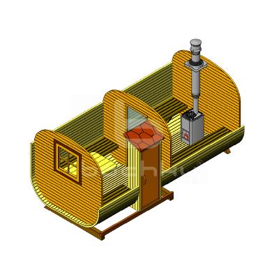 Sauna Barrel Patrat «MEGA-2-SV»
