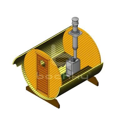 Sauna Barrel Cilindrica «ECONOM»