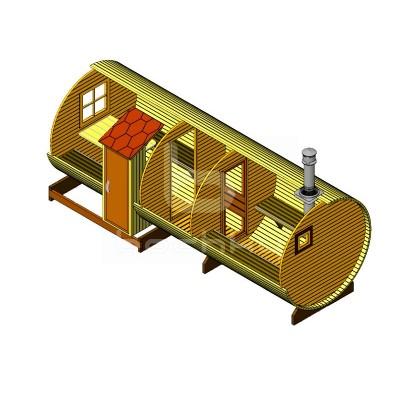 Sauna Barrel Cilindrica «EXCLUSIV-SV»