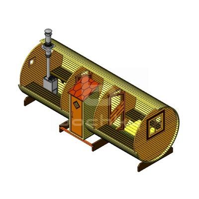 Sauna Barrel Cilindrica «EXCLUSIV»