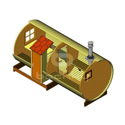 Sauna Barrel Cilindrica «MEGA-2 SV»