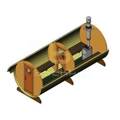 Sauna Barrel Cilindrica «MEGA-2»