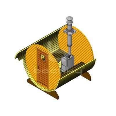 Sauna Barrel Cilindrica «MINI»