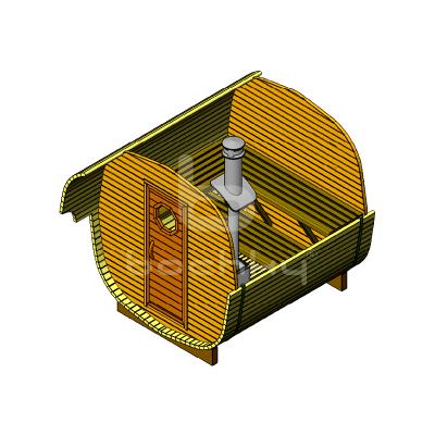 Sauna Barrel OKTA «ECONOM»