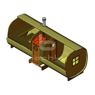 Sauna Barrel OKTA «EXCLUSIV»