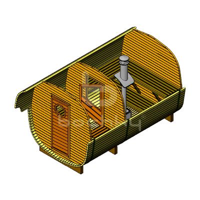 Sauna Barrel OKTA «LUX»