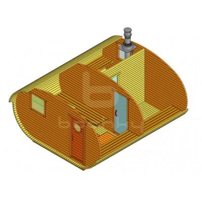 Sauna Barrel Oval «4х4.5»