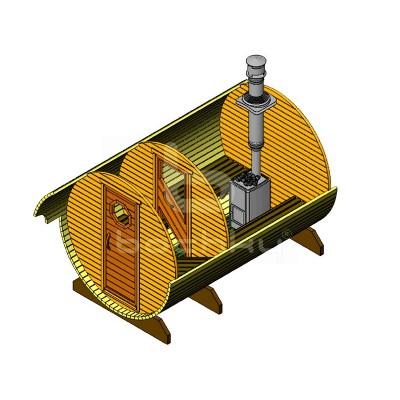 Sauna Barrel Cilindrica «STANDART»