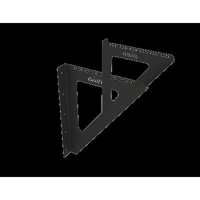Perete Consola Grill'D (L400) negru (vopsea pulbere)